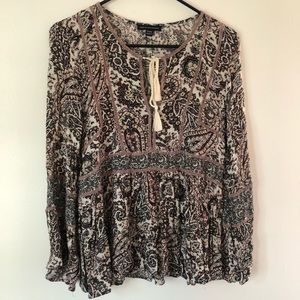 American Eagle Peasant Top Size S